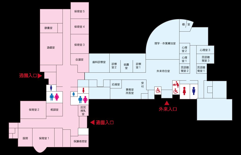 建物の内部の見取り図