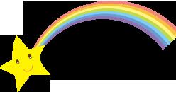 虹と星のイメージイラスト